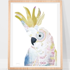 Yellow Crested cockatoo Print A4