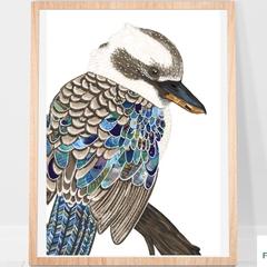 Kookaburra Print A4