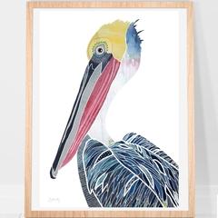 Pelican Art Print A4