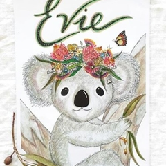 Personalised Girl Koala Print: Unframed