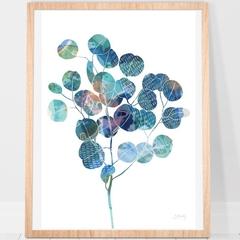 Round eucalyptus Australian Print A4