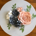 3-Piece Garden Roses with Lillies and Hydrangeas