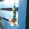 Dream Catcher Tiger Starfish Handmade Beads Charm Ribbon Drusy Feather Turquoise
