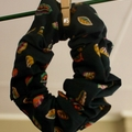 Handmade Blue Liberty Print Hair Scrunchies