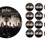 Edible Personalised Harry Potter Cast Rice Paper Cake/Cupcakes Pack