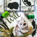 Personalised Wombat Nursery Priny: Unframed