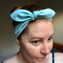 Linen headband - Gorgeous textured Mint headband - Adults and Kids hair accessor