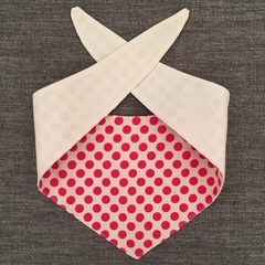 Dog Neckerchief! Bright pink spotty neck tie, neck wear for puppers and doggos,