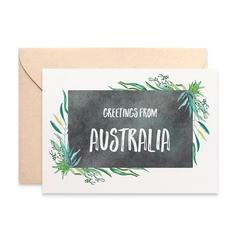 Australian Card, Eucalyptus Card, Greetings from Australia, AUS018