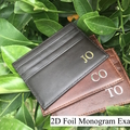 Monogrammed Saffiano Leather Envelope Clutch in Black with detachable straps