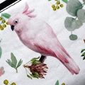 Small Coin Purse in Lovely Cockatoo fabric