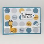 Baby Boy Card - Giraffe