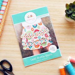 Lexi Ruffle Skirt HARD COPY Paper Sewing Pattern Girls Tiered Skirt Pattern