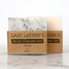 Brush Cleanser Duo • Makeup Brush Solid Cleanser Soap • Palm Free • Vegan Soap •