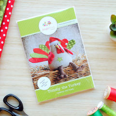 Turkey Soft Toy HARD COPY Paper Sewing Pattern Christmas or Thanksgiving Turkey
