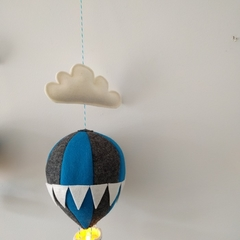 Large Nightlight Hot Air Balloon Mobile Charcoal/Blue