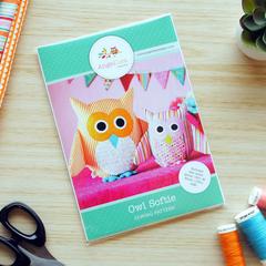 Owl Sewing Pattern HARD COPY Owl Softie Pattern Stuffed Animal