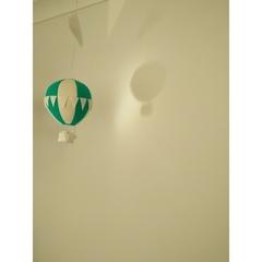 Small Nightlight Hot Air Balloon Mobile Teal/Cream