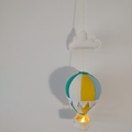 Large Nightlight Hot Air Balloon MobileTeal / Yellow / Pale Blue /Cream