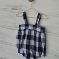 Black and white gingham romper, babies and toddlers