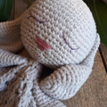 Crochet Bunny Lovey Cuddly Baby Toy Purple