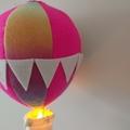 Small Nightlight Hot Air Balloon Mobile Pink/Rainbow