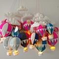 Small Nightlight Hot Air Balloon MobilePink/Rainbow