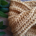 Super Chunky Crochet Cowl Scarf with a Twist
