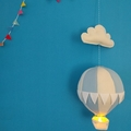 Large Nightlight Hot Air BalloonMobilePale Blue/Cream