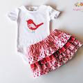 Lexi Ruffle Skirt HARD COPY Paper Sewing Pattern Girls Tiered Skirt Pattern