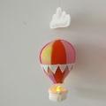 Small Nightlight Hot Air Balloon Mobile Orange Rainbow/Pink