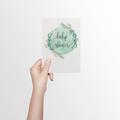 Neutral Baby Shower Card, Eucalyptus Baby Card, BBYSHW022