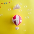 Large Nightlight Hot Air Balloon Mobile Red/Cream