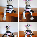 Cow Pattern HARD COPY Paper Sewing Pattern Cleo the Cow Stuffed Animal Pattern