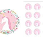 Edible Personalised  White Unicorn Rice Paper Cake/Cupcake Pack