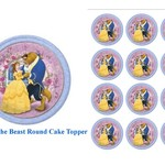 Edible Disney Beauty and the Beast Rice Paper Cake/Cupcake Pack