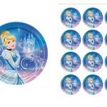 Edible Disney  Cinderella Rice Paper Cake/Cupcake Pack