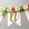 One High Chair Banner, Floral Banner, Boho Theme First Birthday, Cake Smash Phot