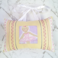 Ballerina Tooth Fairy Pillow for Girls Ballet Dancer Gift Yellow Mauve