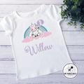Birthday Celebration Unicorn t shirt Personalised Custom Kids 1 2 3 4 years old