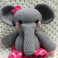 Elephant: READY POST, Crochet Toy, Girl Gift