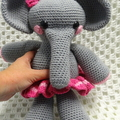 Elephant: Free Postage, Ready to Post, Girl Gift, Crochet Toy