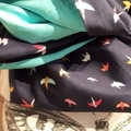 Birds! A hand crafted infinity scarf made with quality cotton fabric.