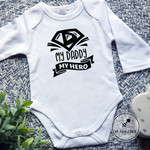 My Daddy My Hero, Father's Day Baby Bodysuit. Gift for Dad