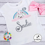 Birthday Celebration Unicorn t shirt Personalised Custom Kids 1 2 3 4 years old