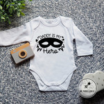 Father's Day Baby Bodysuit. Daddy is My Hero. Gift for Dad