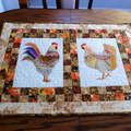 Crazy patchwork embroidered rooster  chicken wall art, table topper