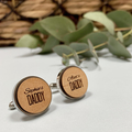 Personalised wooden cufflinks for Father's Day - My Daddy