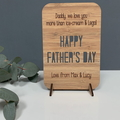 Personalised laser cut wooden card - Reasons why we love you