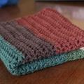 Warlock triangle crochet scarf